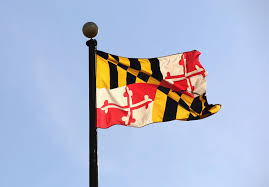 Picture of Maryland State Flag on a flag pole