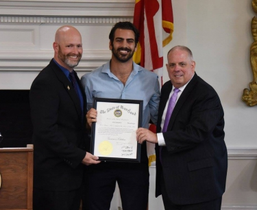 Director Brick, Nyle DiMarco, and Governor Hogan